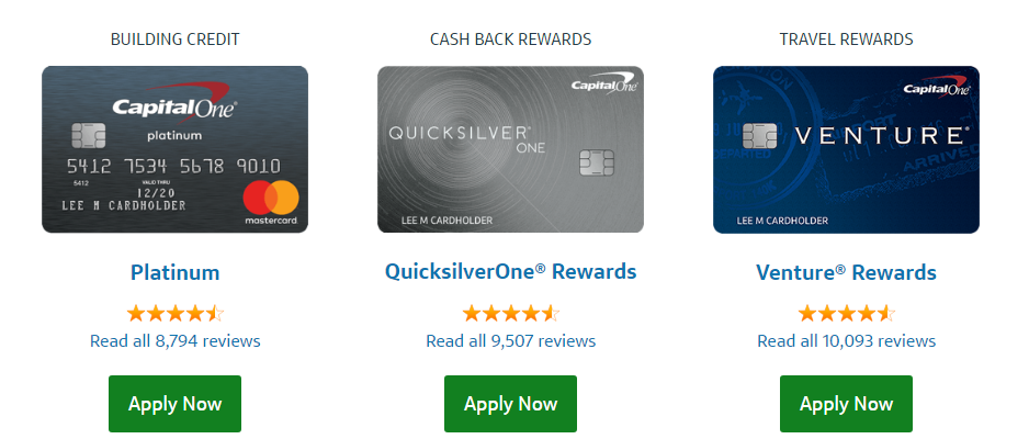 Explore Capital One Credit Cards