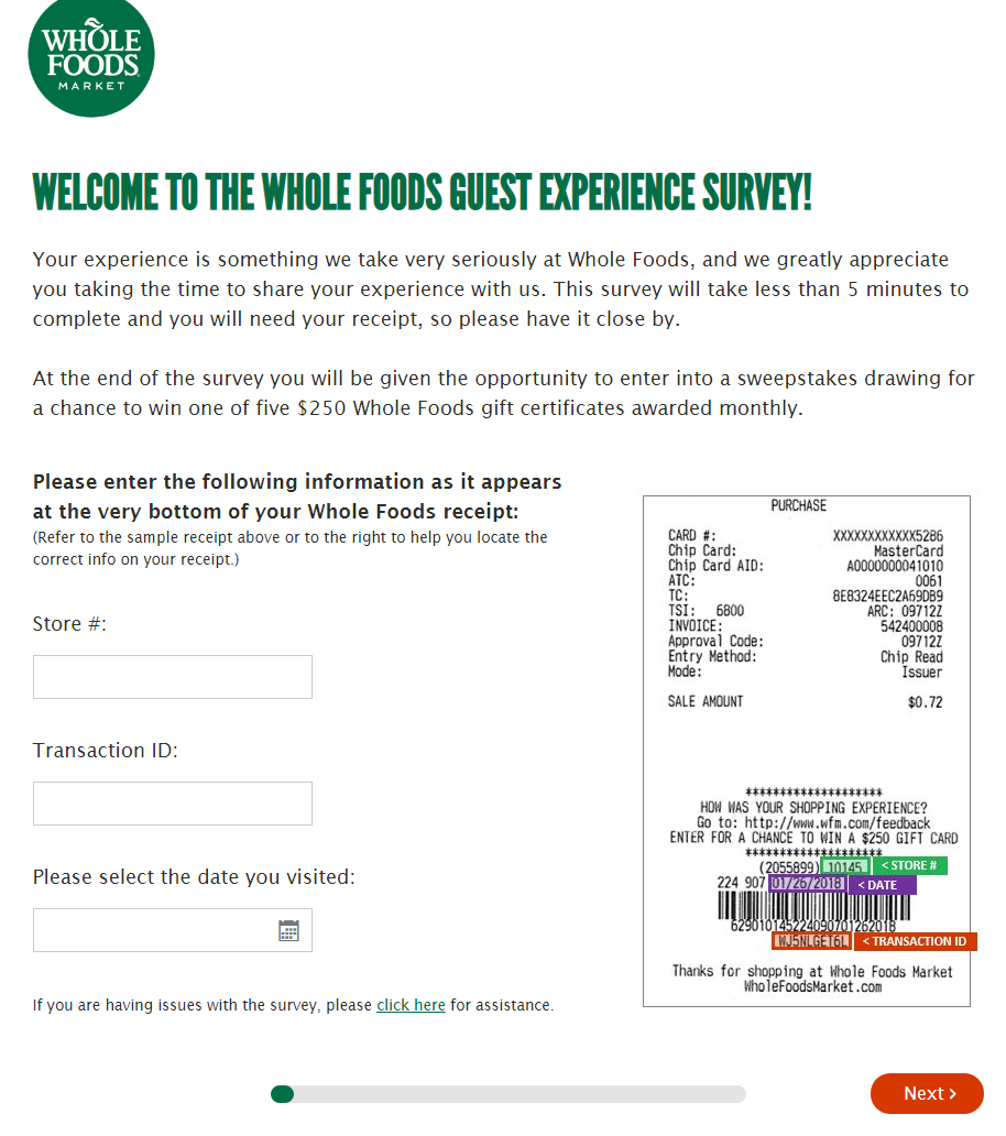 Participate in Whole Food Survey and Get Chance to Win $200