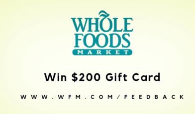 Win a $200 Whole Foods Gift Card