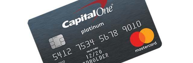capital one credit card login