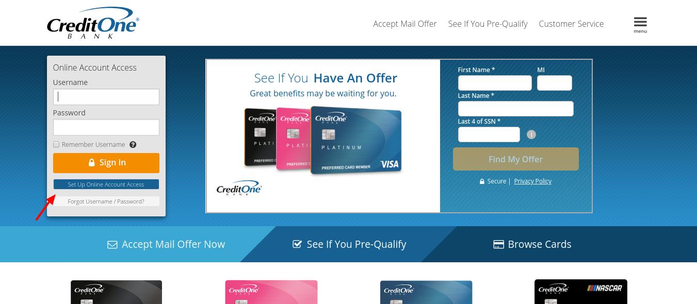 Credit-One-Bank-setup