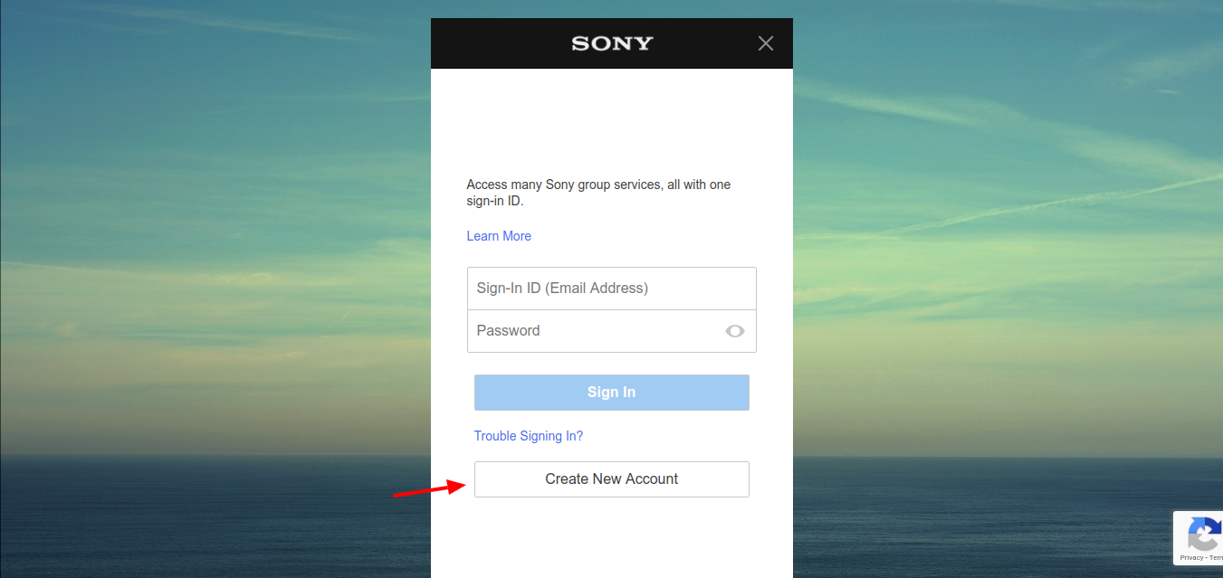 Sony-Entertainment-Create account