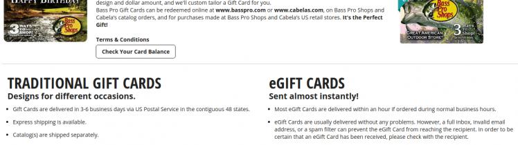Bass Pro Shop Gift Card