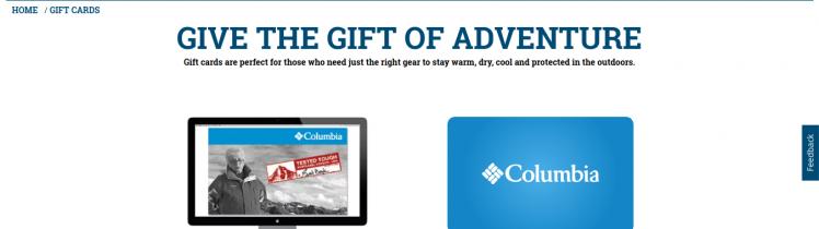 Columbia Gift Card Logo