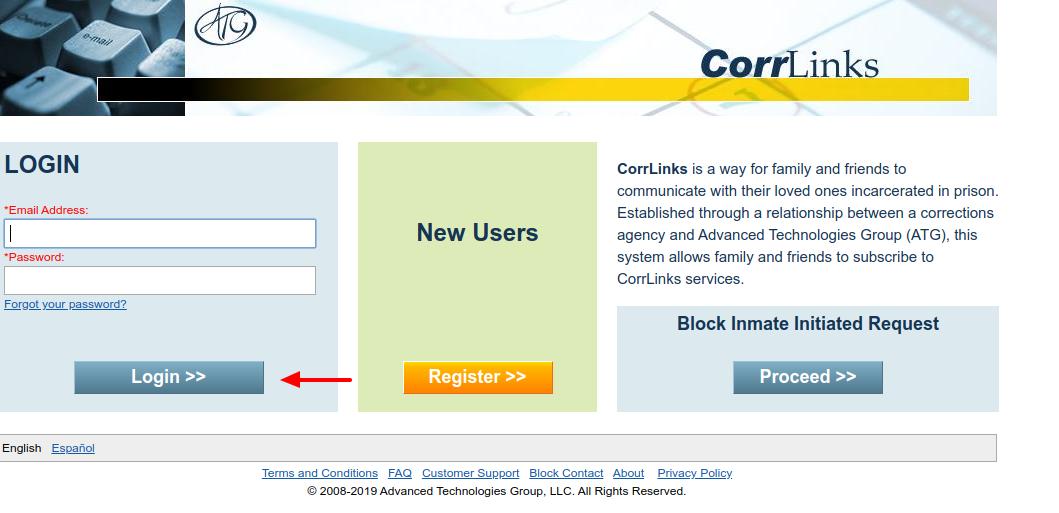 CorrLinks Login