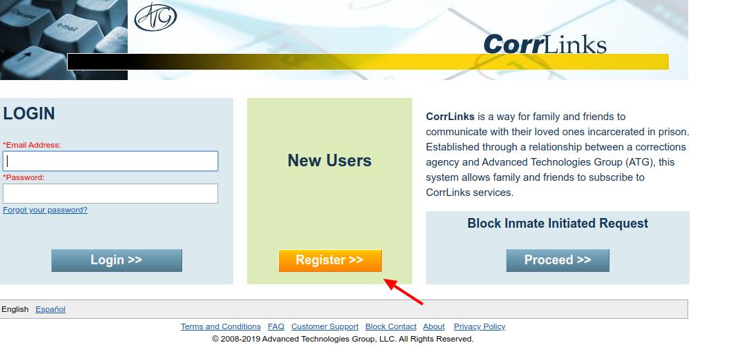 CorrLinks register