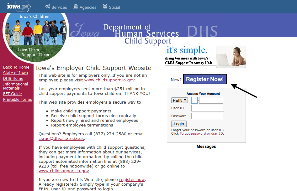 Iowa DHS Employer Register
