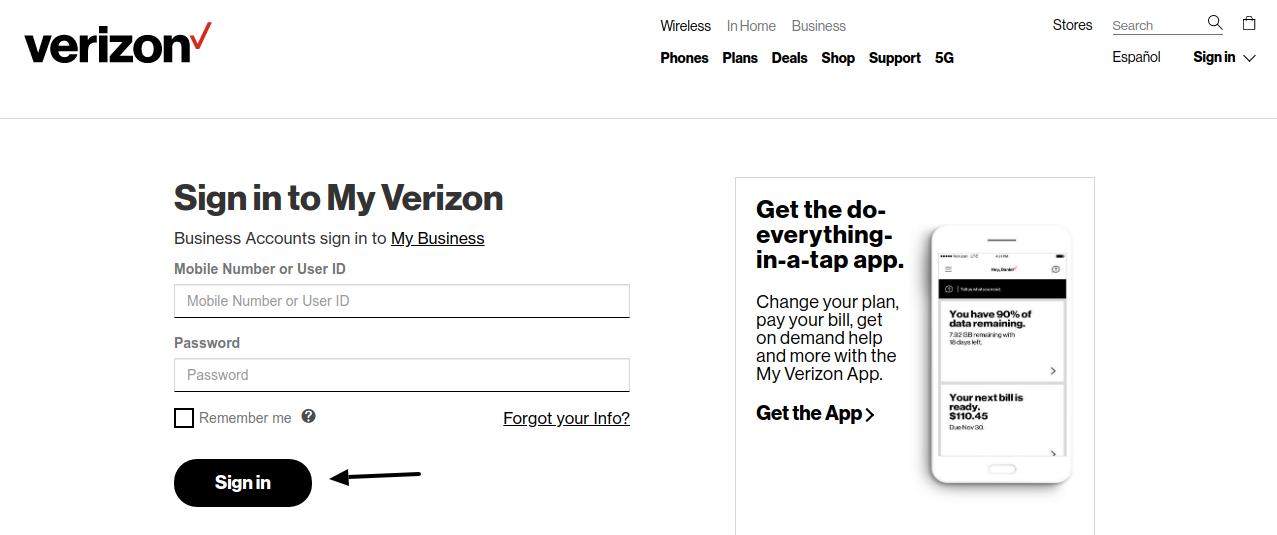 My Verizon Log In