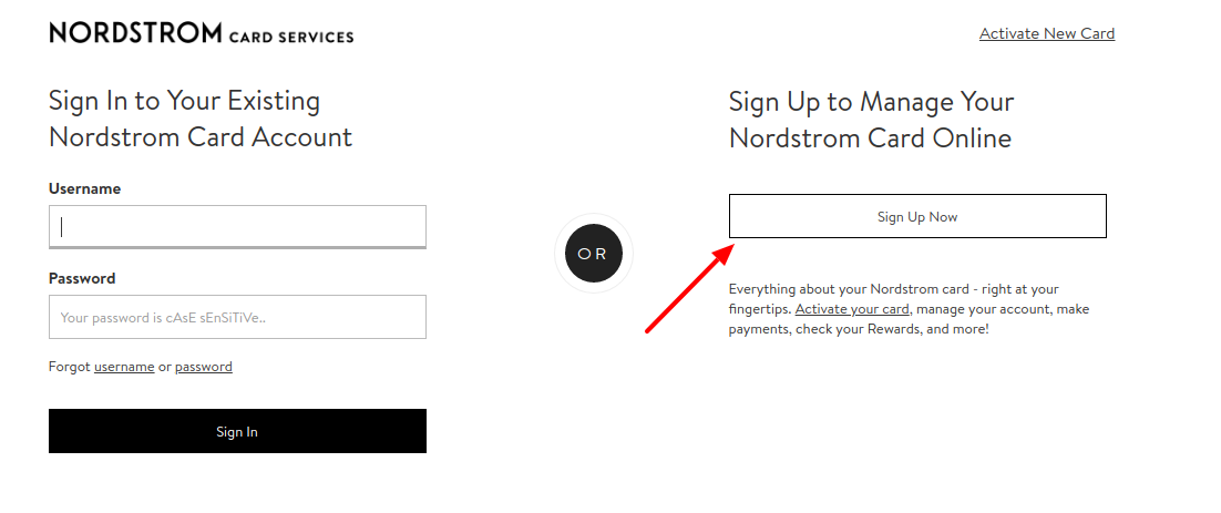 Nordstrom Card Sign Up Now