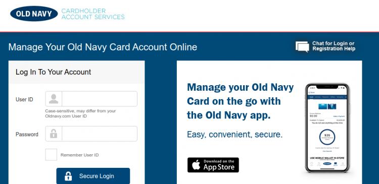 Old Navy Credit Card Logo
