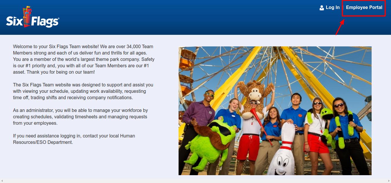 Six Flags Team Employee Portal