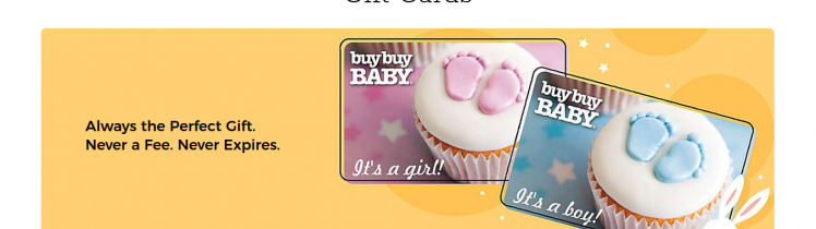 buybuy BABY Gift Card Logo