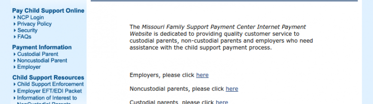 Missouri Family Support Payment Logo