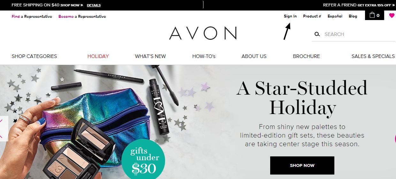AVON - Shop Sign In