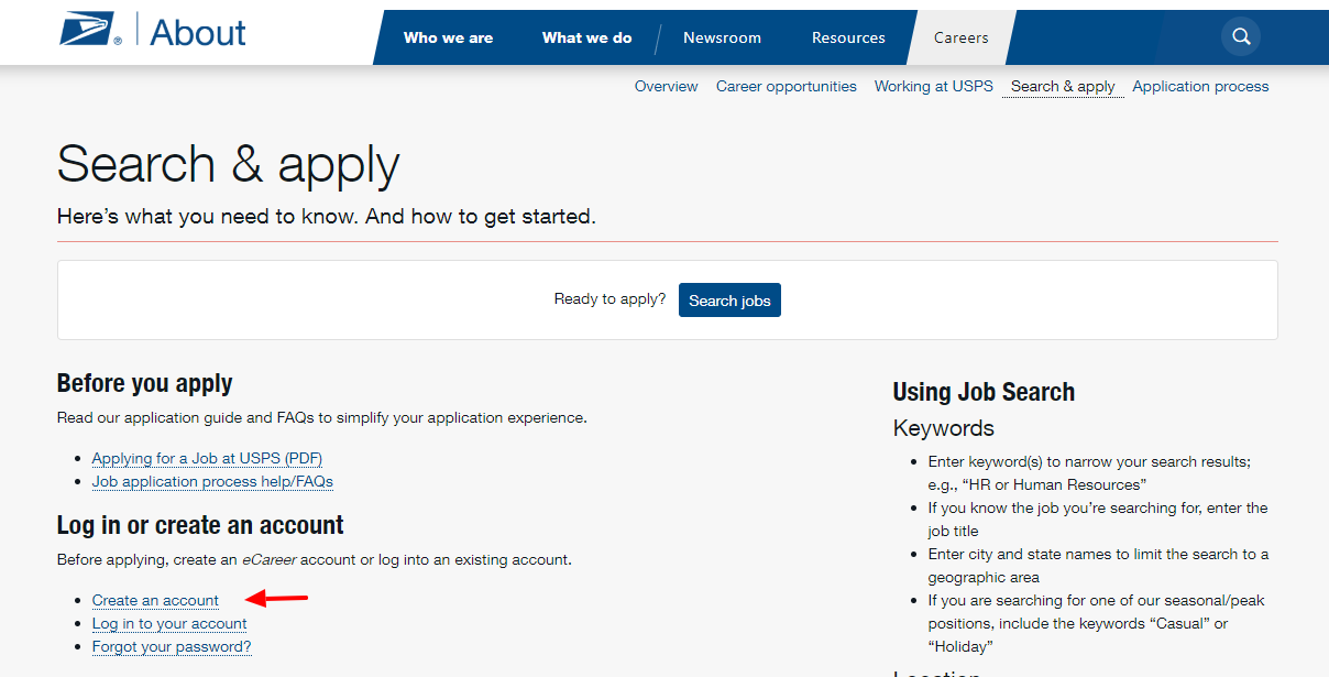 Search and Apply usps