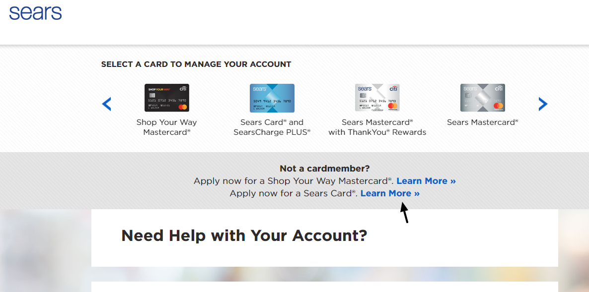 Sears Credit Card Learn More
