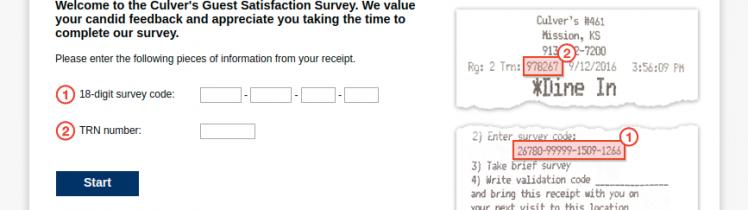Culver s Guest Satisfaction Survey