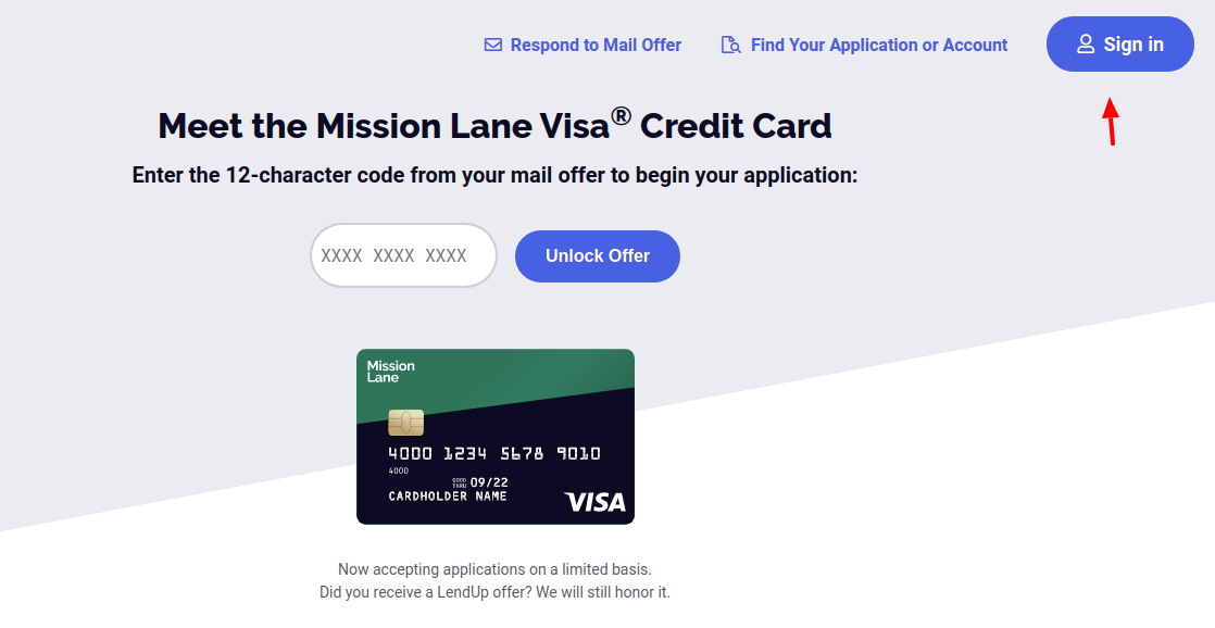 Mission Lane Credit Cards Sign In