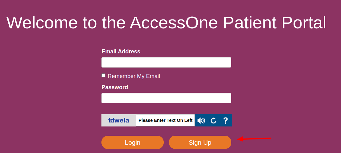 AccessOne Sign Up