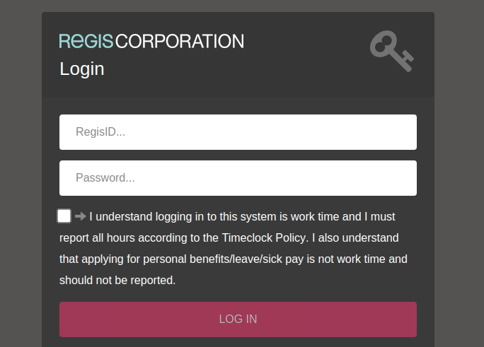Regis Corporation Login