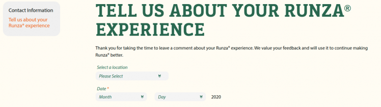 Runza Survey Logo