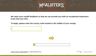 McAlisters Survey Logo