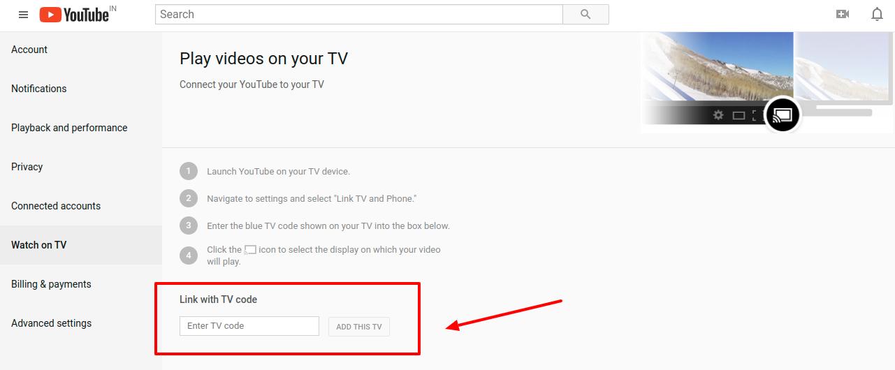YouTube Link Code