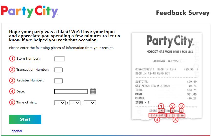 Party City Feedback