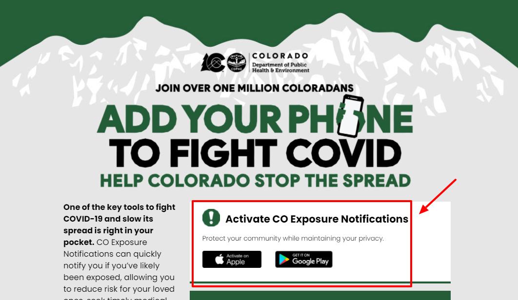 Activate CO Exposure Notifications